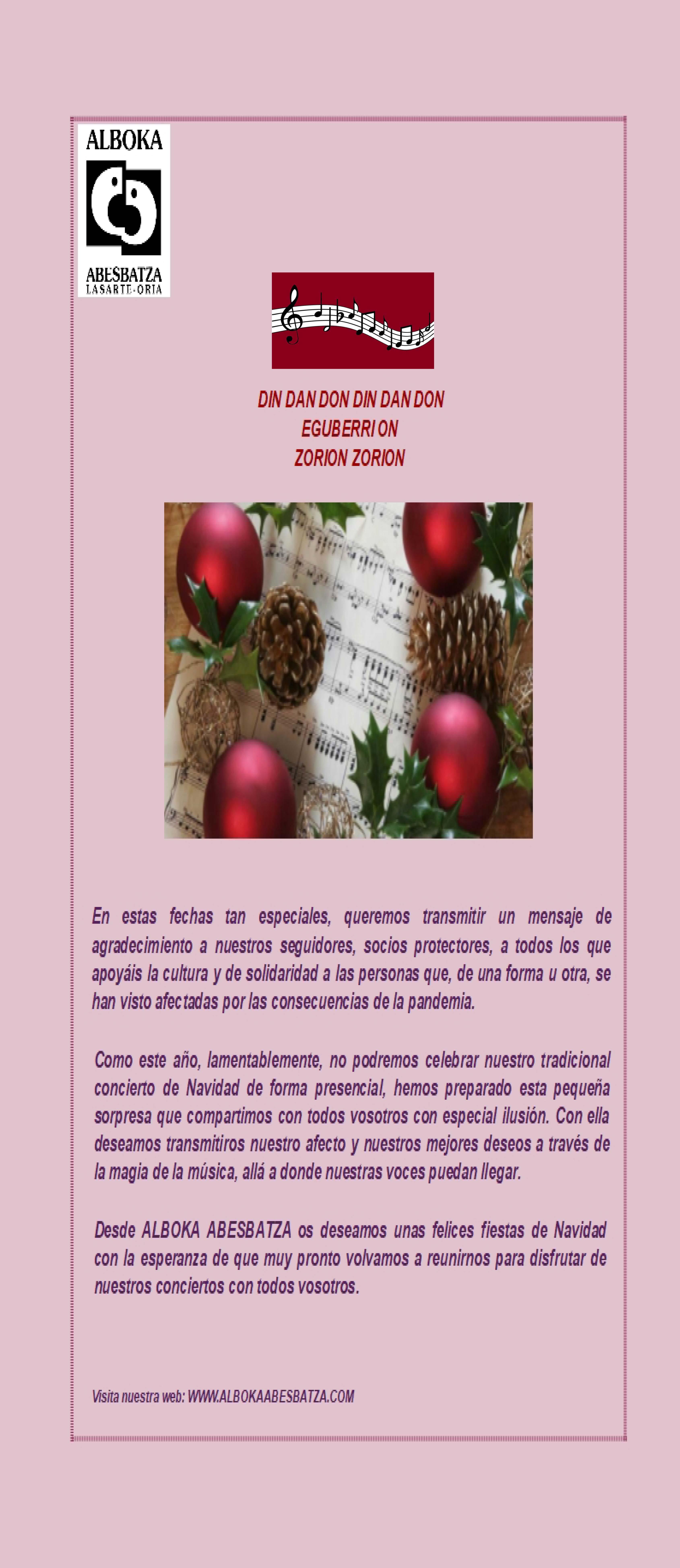 Alboka Navidad 2020 castellano