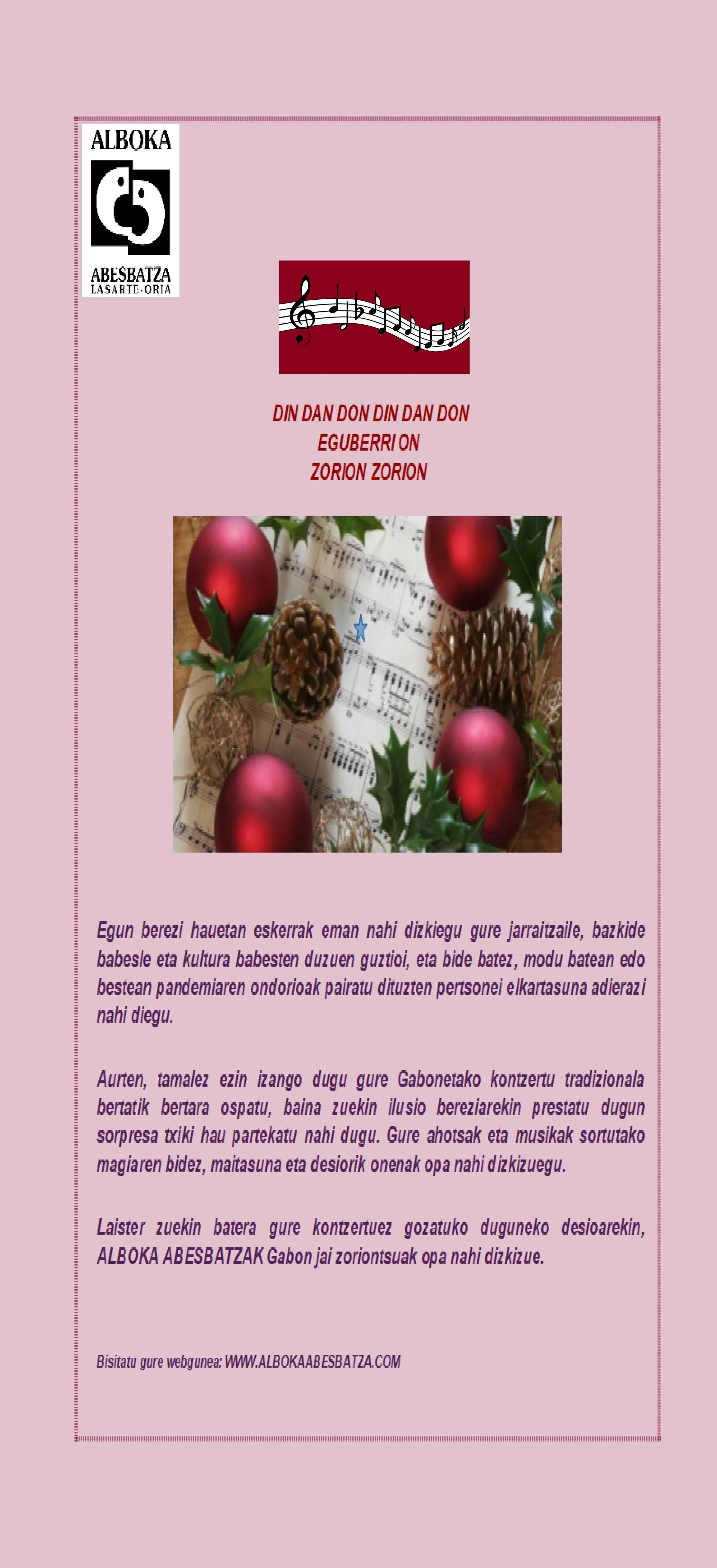 Alboka Navidad 2020 euskera